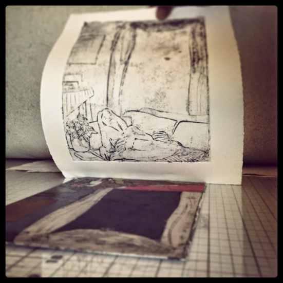mat board collagraph printmaking
