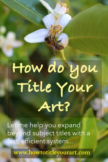 how to title your art graphic with links to the online course