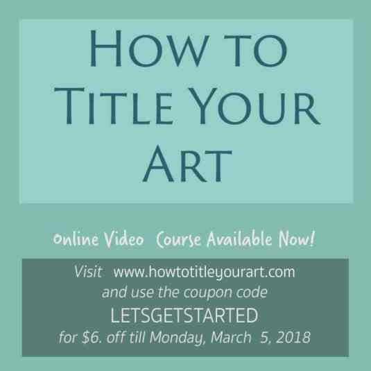How to Title Your Art Online Course