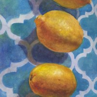 Watercolor: Citrus Sun Catcher - and painting in public