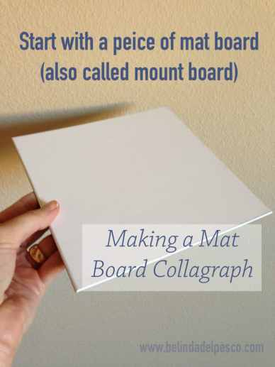 a sheet of mat board - also known as press board or mount board - in a hand