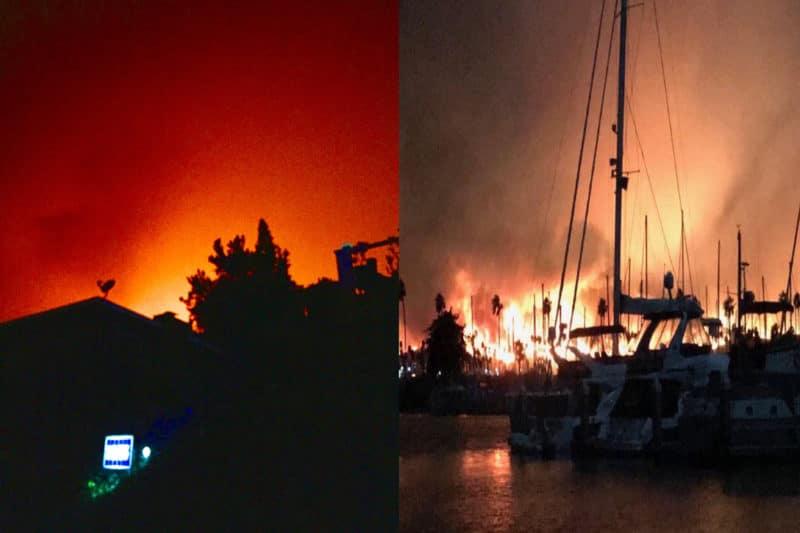 Thomas Fire in Ventura