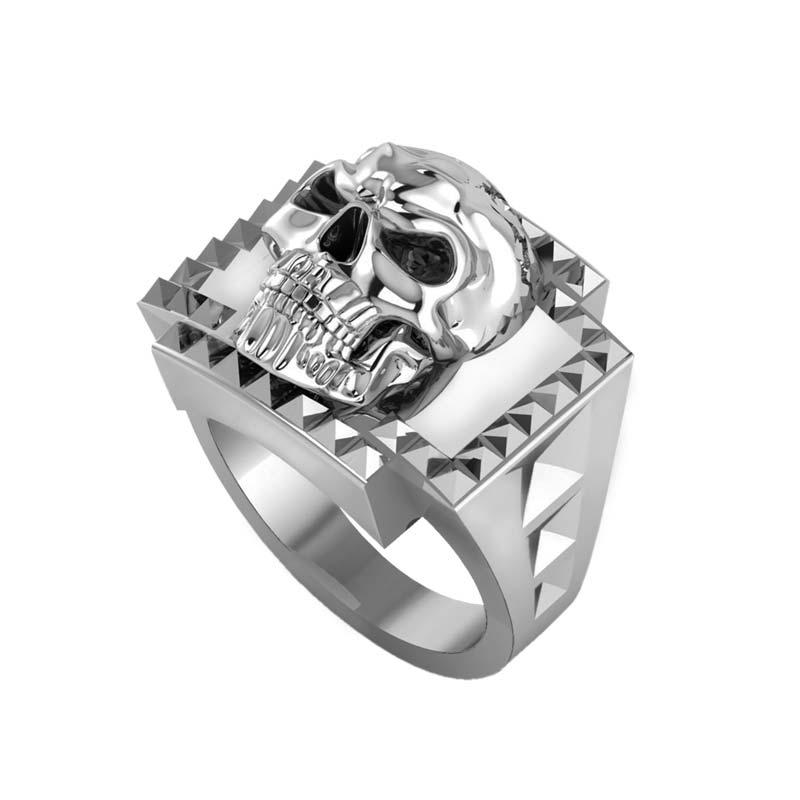 Frightening 3-D Sterling Silver Skull ring