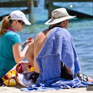 relax by the beach in ambergris caye, belize