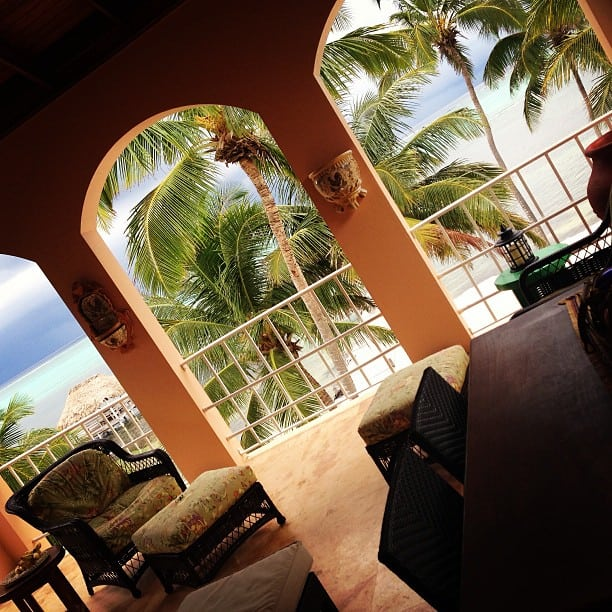 Balcony View in Ambergris Caye, Belize