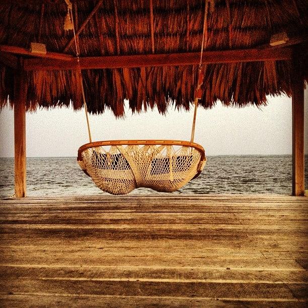 beach hammock in Belize