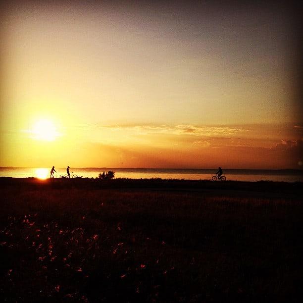 dusk in Placencia, Belize