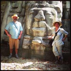 mask temple lamanai maya ruin