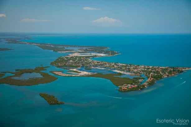 aerial photo of placencia Belize