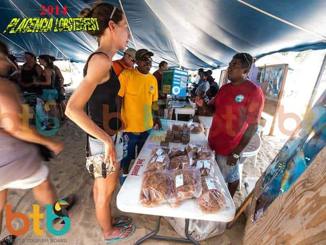 selling crafts in Placencia lobsterfest