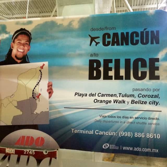 cancun to belize ado bus