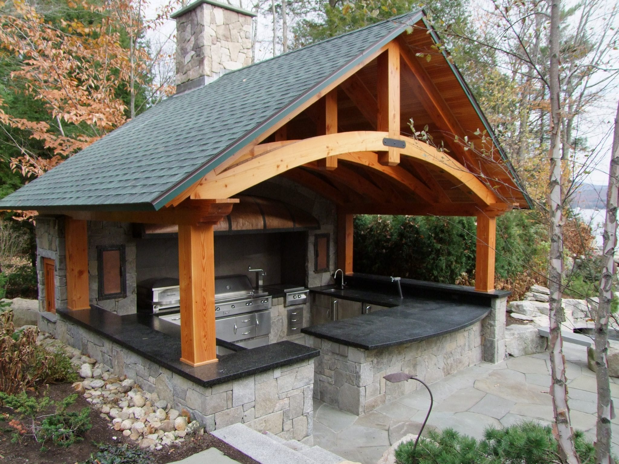 Roof Kitchen & 24 Best Flat Roof Extension Images On ... on Backyard Bar With Roof id=49086