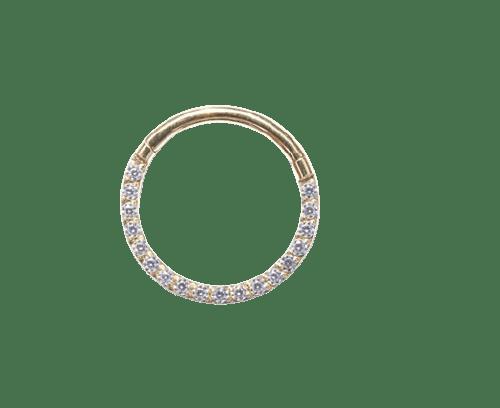 PVD Front Crystal Hoop - Bella Andrea - Piercing Jewellery