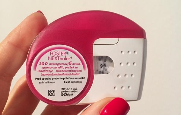 foto: zdravilo za astmo, ki ga vpihujem dvakrat dnevno