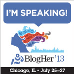 Sandy Jones-Kaminski will be speaking at BlogHer 2013 in Chicago this July!