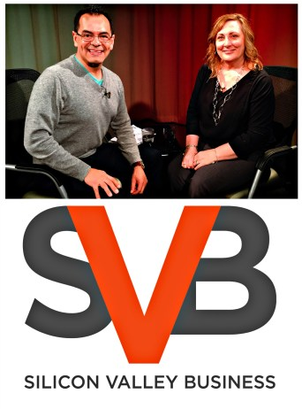 Sandy Jones-Kaminski with Oscar Garcia host of Silicon Valley Business March 2015