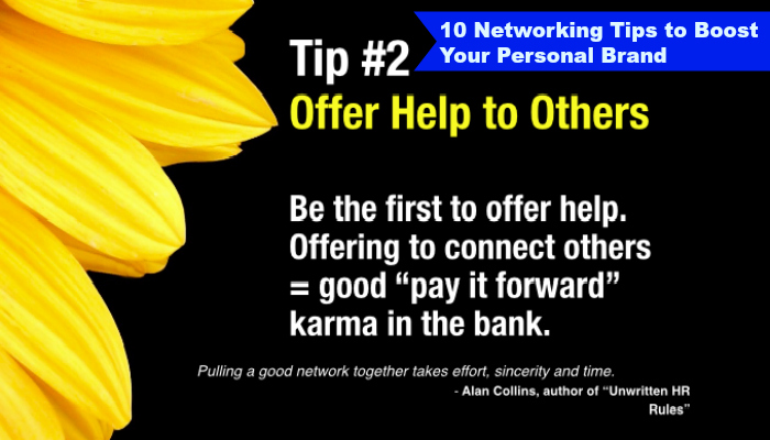 Tip #2 of 10 Networking Tips