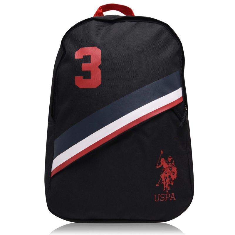 US Polo Association Panel Backpack - Black