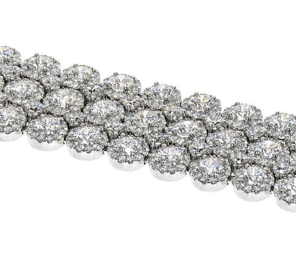 Bracelet with hundreds of diamonds