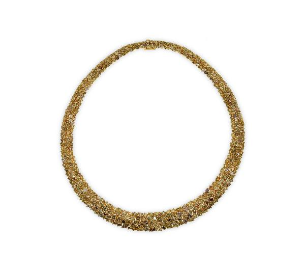 Gold Necklace with hundreds of diamonds