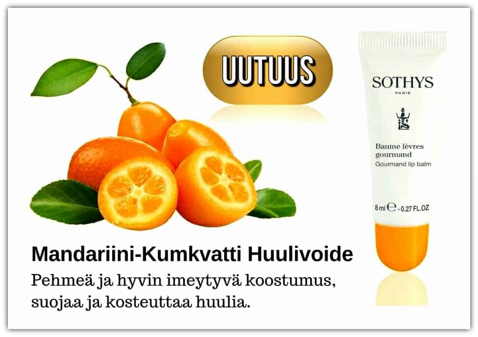 Sothys Mandariini Kumkvatti Huulivoide Kauneushoitola BellaHelena Oulu