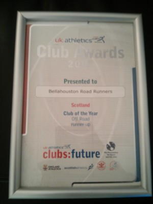 2005 UK Athletics Scottish Off Road Club Runner Up