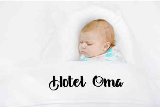 Hotel Oma - ledikant laken - babykamer