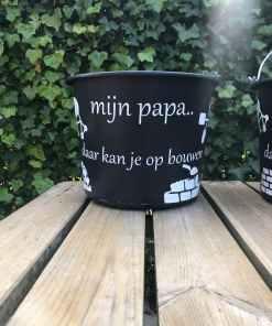 Bouwemmer, mijn Bouwemmer, mijn papa - Vaderdag cadeau - Gepersonaliseerd vaderdag cadeau - Cadeau voor papa - Gepersonaliseerd cadeau