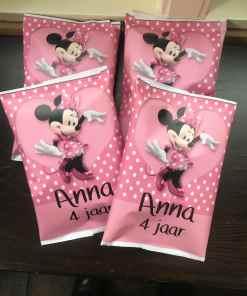 Mini mouse traktatie - chipszakje - trakteren - trakteren op school - gepersonaliseerde traktaties - Disney traktaties - Bella Kids