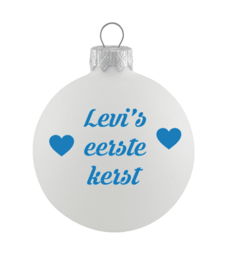 Mijn eerste kerst - kerstbal - Kerstbal - baby's eerste kerst - Gepersonaliseerde kerstbal - Cadeau met naam - Kerstcadeau