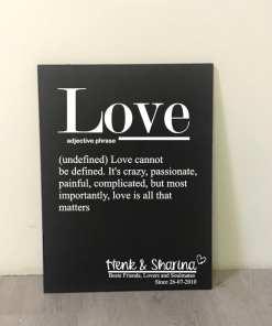 Tekstbord - Love - Gepersonaliseerd - Valentijn cadeau - Gepersonaliseerd tektbord - Tekstbord met naam - Valentijn - Cadeau voor je geliefde