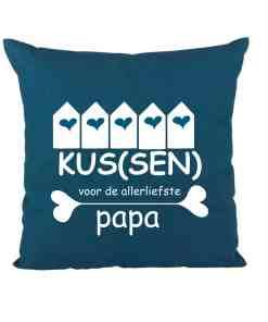 Kus(sen) voor de liefste Papa - vaderdag cadeau - Cadeau voor vader - Cadeau voor papa - Kussen papa - gepersonaliseerd - Bella Kids
