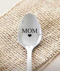 Thee lepel - Mom - Cadeau voor jouw geliefde - Valentijnsdag cadeau - Theelepel met tekst - Valentijn - Bella Kids