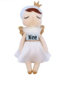 Pop met naam - Angel - Metoo - met naam - gepersonaliseerde zachte pop MeToo Hoe schattig is dit engeltje?