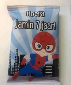 Helden- Traktatie zakje - Chips zakje- Wonder woman - Spiderman