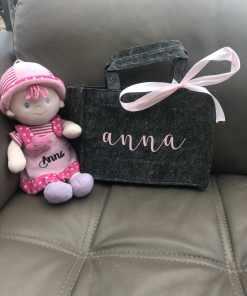 Vilten tas mini - Gepersonaliseerd - Met naam - Naam cadeau - Cadeau voor meisje - Naam kado - Verjaardag cadeau - Gepersonaliseerd cadeau