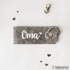 Sleutelhanger    Oma    Moederdag cadeau - Cadeau voor mama - Sleutelhanger - Gepersonaliseerd cadeau - Naam cadeau