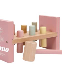 Little Dutch - Wild Flowers - Hamerbank - met naam - De stoere Little Dutch houten hamerbank is voor jongens én meisjes leuk om mee te spelen