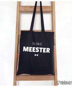 TAS | TAS VAN DE MEESTER- Boodschappen tas - Einde schooljaar cadeau - cadeau voor de juf - Tas Juf - Liefste meester