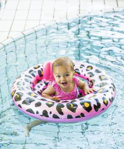 Swim Essentials Baby float Panterprint Rosé goud 0-1 jaar