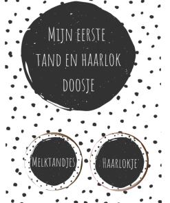 Tandendoosje en Haarlokje cadeau set - Kraam cadeau - Cadeau voor in kraammand - Cadeau set tanden doos en haarlokje