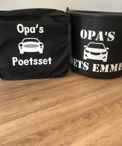 Opa's auto was set - Emmer - Sponzen - vaderdag cadeau - Autopoets set - Auto wassen - cadeau voor hem - cadeau voor papa
