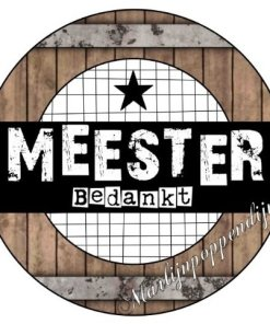 Cadeau set - Button opener met magneet met tekst ''Meester bedankt' Super leuk cadeau setje om te geven aan de meester de opener is 56mm, Cadeau set - Cadeau set - Button opener met magneet met tekst ''Meester bedankt' Verpakt in een leuk doorzichtig zakje