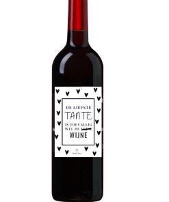 Wijn Wijn etiket Liefste tante Ben jij op zoek naar een leuk cadeautje voor een tante ? Geef deze gepersonaliseerde wijn cadeau Ook te bestellen als alleen een etiket, zodat je zelf een wijntje uit zoeken kan.