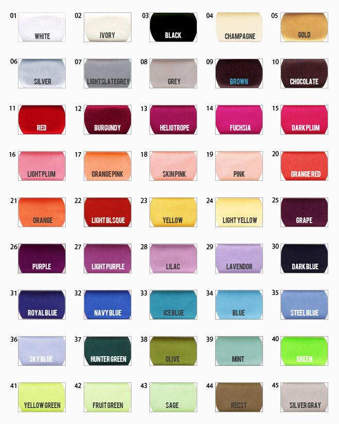 Veil Sizecolor Chart Bella Mera Bridal Boutique