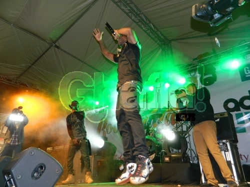 Davido on Stage at the Concert in Kenya