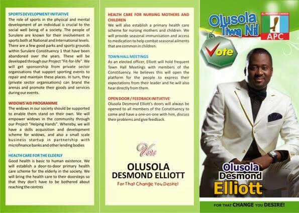 Desmond Elliot for APC Lagos State, 2014 - ozara gossip