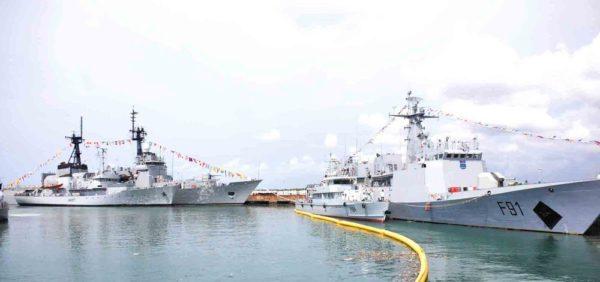 PIC. 9. INAUGURATION OF 4 NAVAL WARSHIPS IN LAGOS 600x282 Pres. Jonathan Inaugurates 4 Nigerian Navy Ships | Promises to Conquer Boko Haram