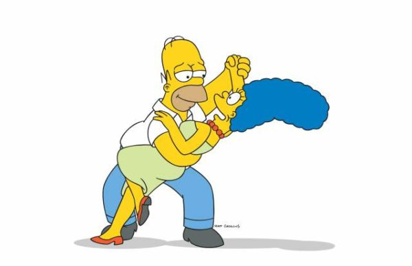 THE SIMPSONS: Homer and Marge Simpson on THE SIMPSONS on FOX.  THE SIMPSONS ™ and ©2002 TCFFC ALL RIGHTS RESERVED