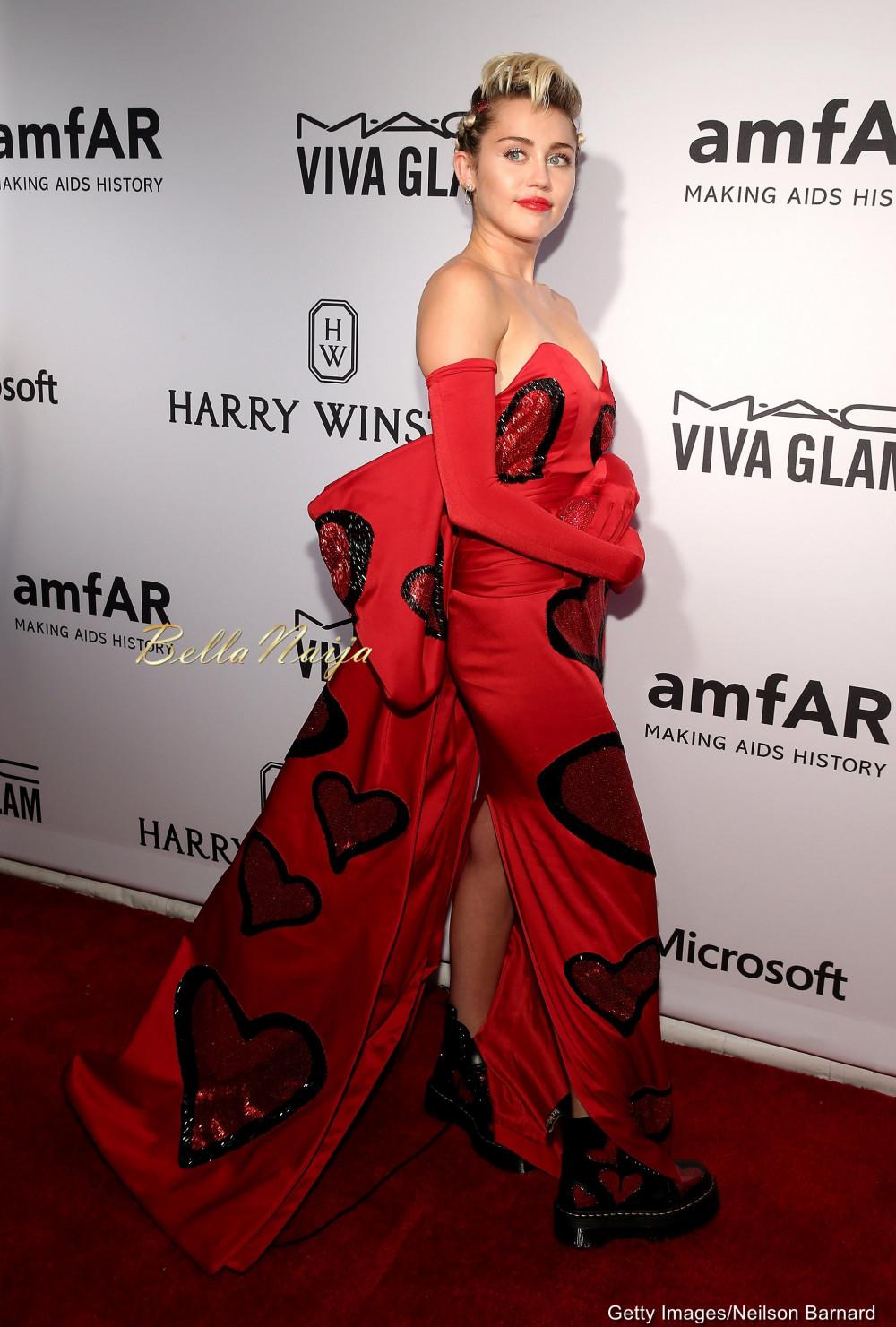 AmfAR Inspiration Gala 2015 Laverne Cox Miley Cyrus